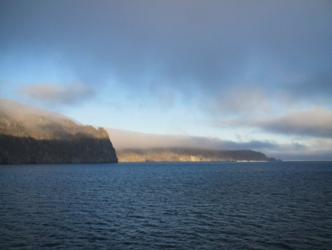 Herald Island at sunset