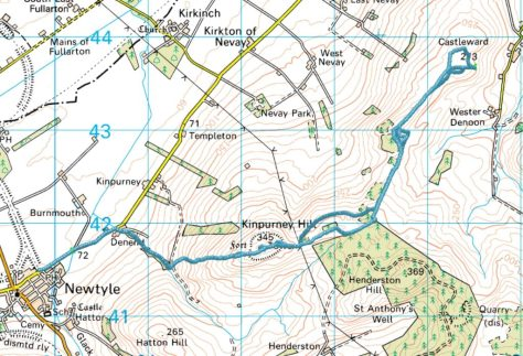 Kinpurney to Castleward route