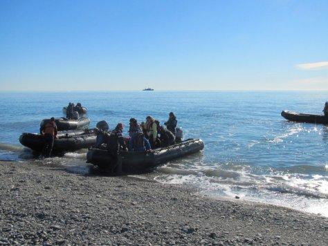 Landing on Wrangel Island