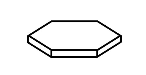 Flat hexagonal prism