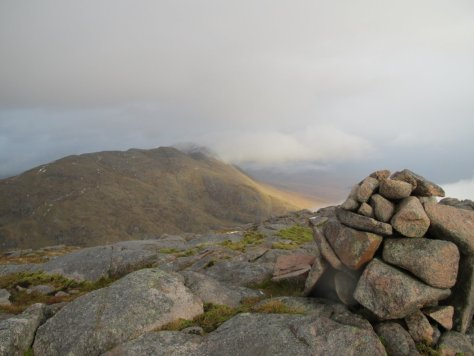Ben Sgulaird from 804m top of Creach Bheinn