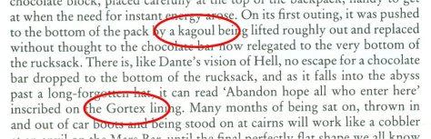 """Gortex kagoul"", page 166 of The First Fifty"