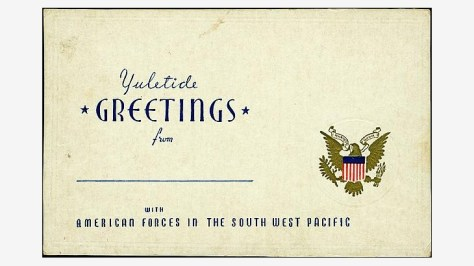 US armed forces Christmas greeting card, 1944, War in the Pacific