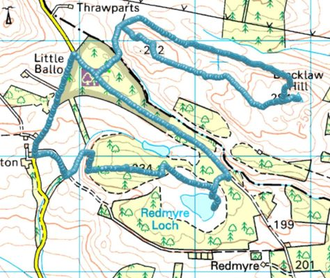 Blacklaw & White Hill route