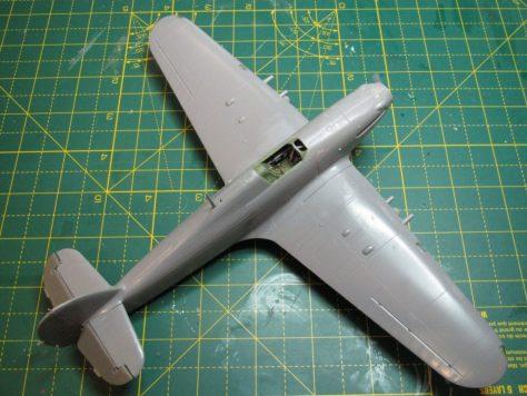 Hasegawa 1/48 Hurricane ready for primer, upper