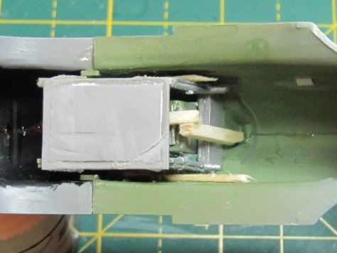 Aires 1/48 Hawker Hurricane cockpit placed in Hasegawa fuselage