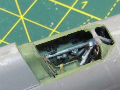 Aires 1/48 Hawker Hurricane cockpit in place 2
