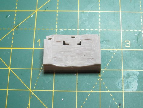 Brengun 1/48 Hurricane wheelbay, sanded to fit