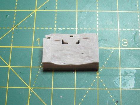 Brengun 1/48 Hurricane wheelbay, sanded to fit