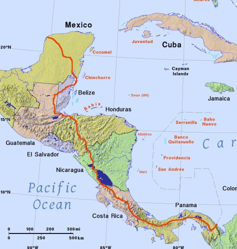 Walking the Americas route