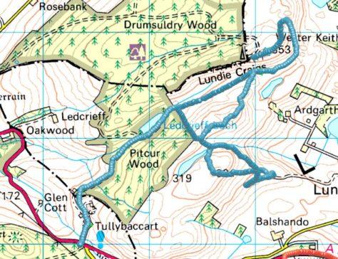 Route to Smithton Knowe