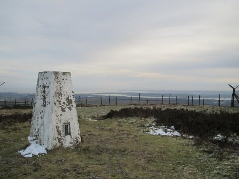 Craigowl trig point, looking towards Tay Estuary