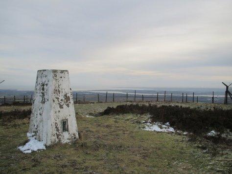 Craigowl trig point, looking towards Tay Estuary