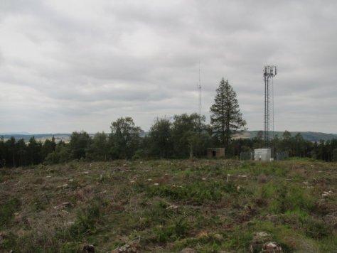 Telecom masts, Fothringham Hill