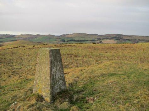 Trig point of West Mains Hill