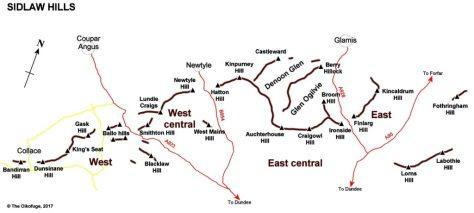 Sidlaw Hills sketch map