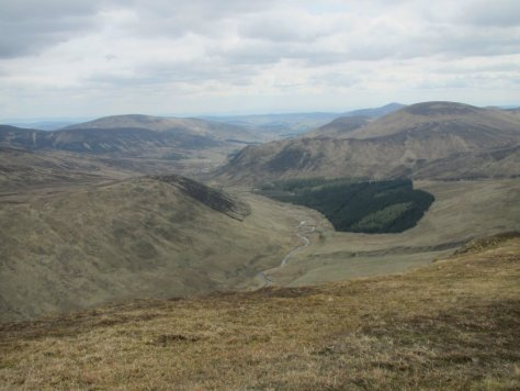 Glen Isla from the Monega track