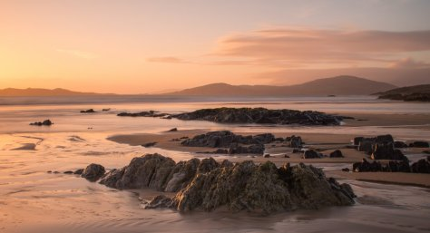 Borve beach at sunset, South Harris