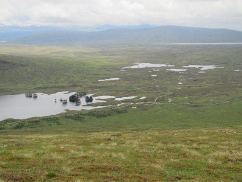Head of Loch Ossian from Beinn na Lap