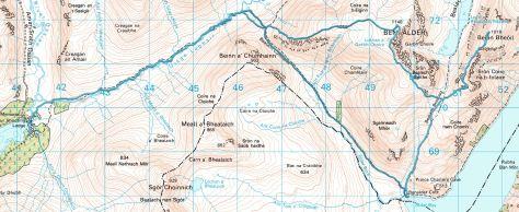 Ben Alder & Beinn Bheoil route