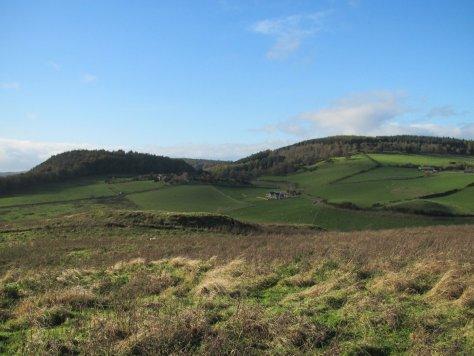 Binn Hill and Deuchny Hill from Taymount