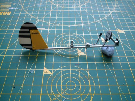 "1/24 Airfix ""Little Nellie"" basic frame"