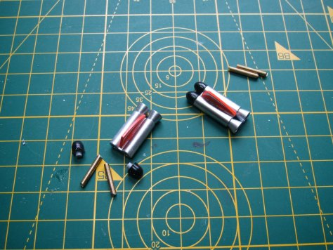 "1/24 Airfix ""Little Nellie"" flamethrower tail weights"