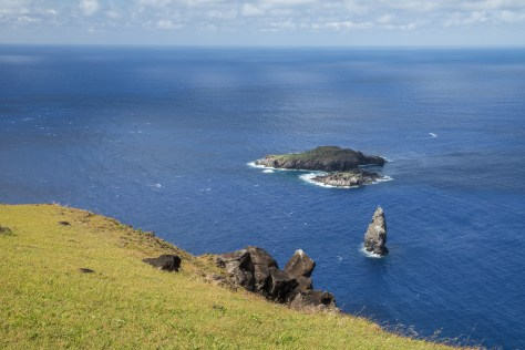 Motu Nui, Motu Iti and Motu Kao Kao from Orongo, Easter Island