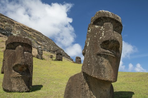 Moais, Rano Raraku quarry, Easter Island