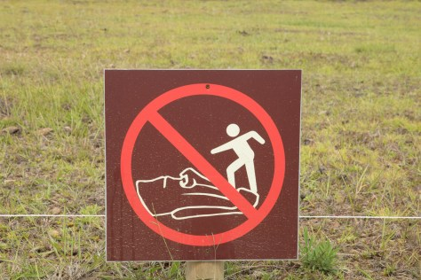 Easter Island warning sign 2