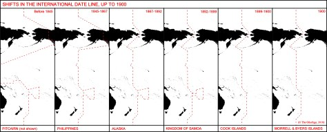 Shifts in the International Date Line up to 1900