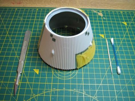 Revell 1/96 Saturn V - paint masking S-IVB aft interstage