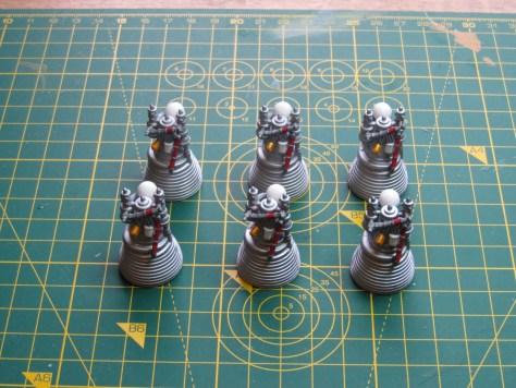 Revell 1/96 Saturn V, J-2 engines