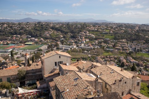View from Chateau Grimaldi, Haut de Cagnes