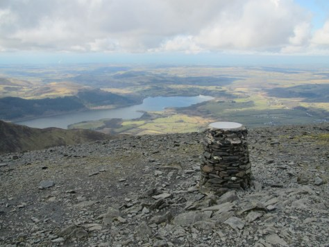 Skiddaw view indicator and Bassenthwaite Lake