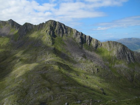 Forcan Ridge from slopes of Sgurr na Sgine