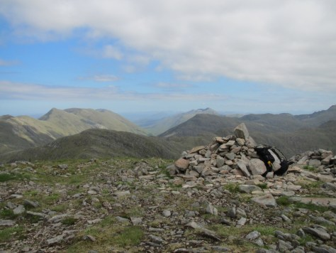 Summit of Sgurr na Sgine, looking east
