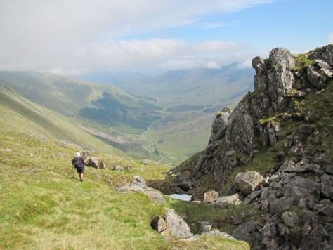 Descent to Glen Shiel from Sgurr na Ciste Duibhe