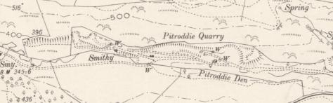 Pitroddie Quarry OS 6-inch 1899