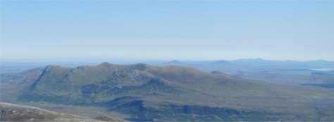 View of Ben Loyal from Ben Hope