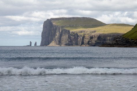 """Giant and Hag"" sea stacks from Tjørnuvík"