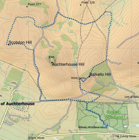 Auchterhouse route