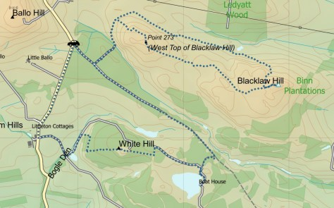 Blacklaw-White Hill route
