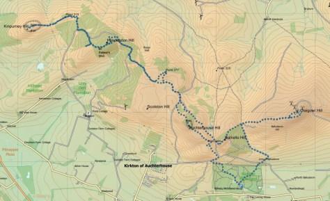 Kinpurney-Craigowl route