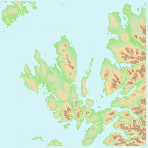 OS OpenData Terrain 50 NG tidal water blue + background