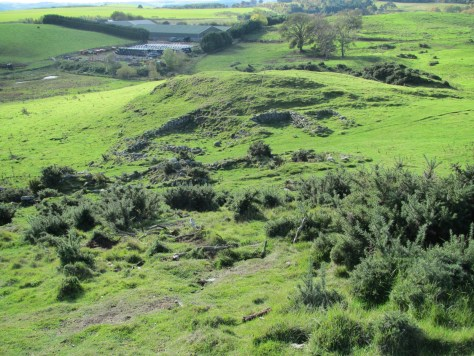 Ruins of Turfhills farm above Arnbathie