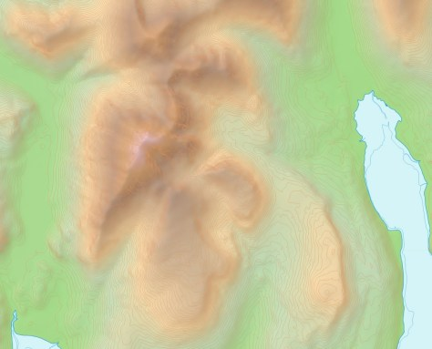 Blaven with OS default contours