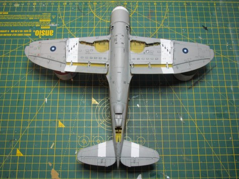 Tamiya 1/48 Thunderbolt, SEAC colours and markings, panel lines underside