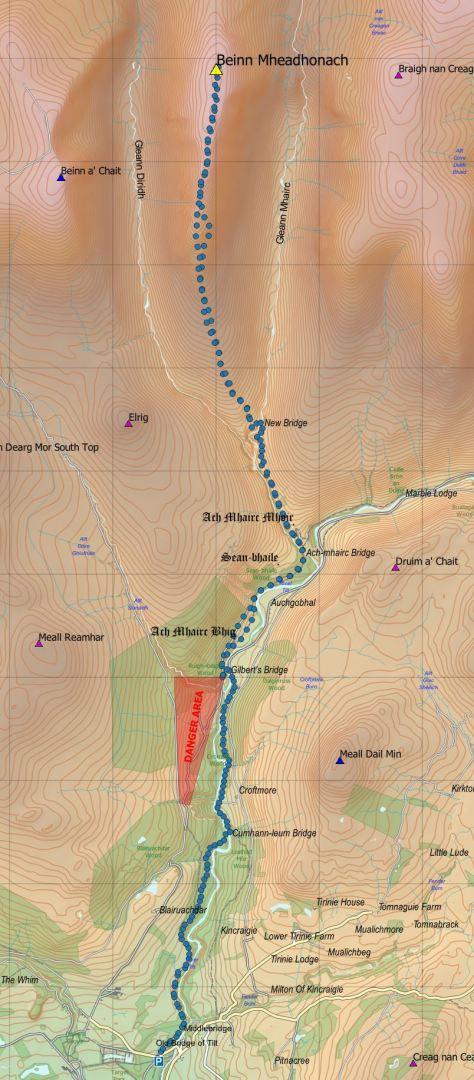 Mheadhonach route