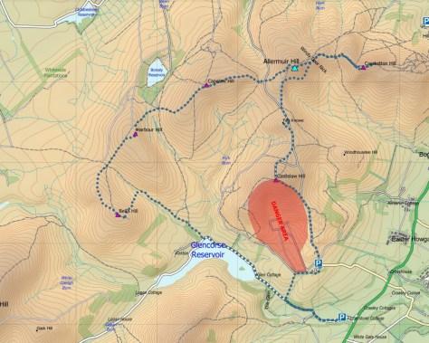 Pentlands North route